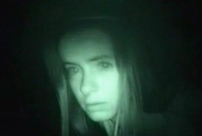 Captura del video de la chica de la curva