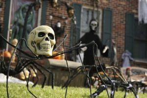 decoracion-halloween-calavera-jardin