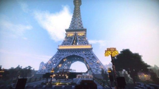 torre eiffel minecraft
