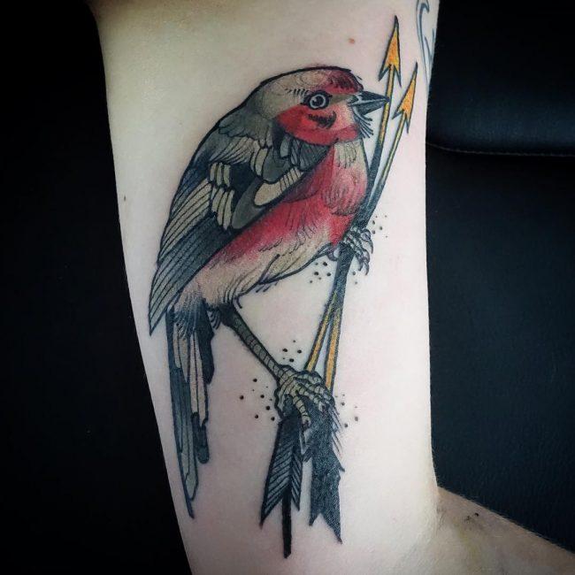 tatuaje de pajaro