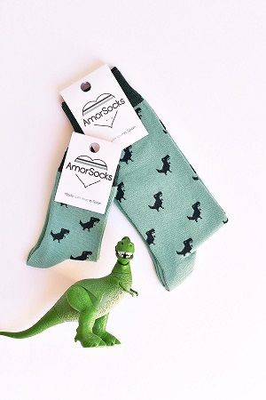 amorsocks-calcetines-socks-dinos-dinosaurios-trex-tiranoraurio-verde-green-1-e1539253062201