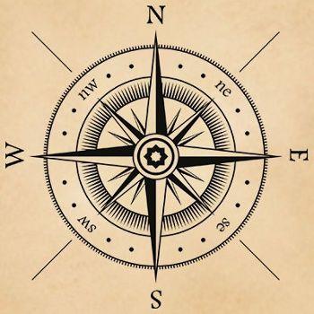 tatuaje rosa de los vientos estrella del norte