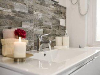 idead decorar baño piedra